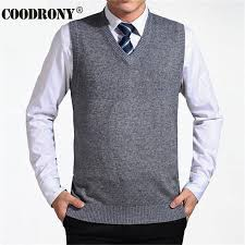 COODRONY <b>2019 New Arrival</b> Solid Color Sweater Vest Men ...
