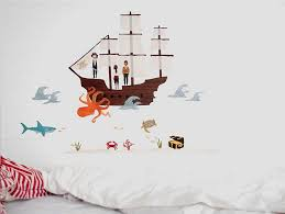 pirate sea creatures wall