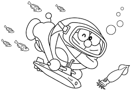 Want to discover art related to doraemon? Diving With Doraemon Coloring Page Free Printable Coloring Pages For Kids