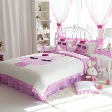 shabby chic bedding set queen twin sizev style 1 pink and white