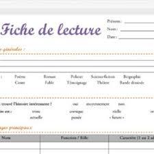Modele Fiche De Lecture 5e