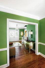 ... House Interior Walls For Terrific Paint Design Exterior And Decoration  Green Wall With White Trim Wooden bedroom ...