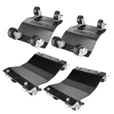 capacity commercial grade solid steel tire dolly 4 pack