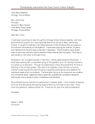 Over Letter Education Early Childhood Education Cover Letter