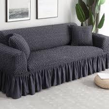 solid color elastic sofa cover l shape