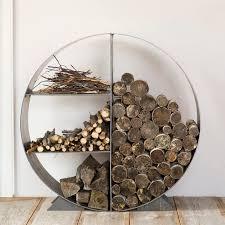 steel circle log holder