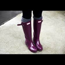 hunter boots size 6 hunter tall gloss rain boots 5 m 6 f dark ruby wellington boot
