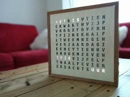 I built a word clock for my girlfriend as a birthday present. Once a year,  a special message is displayed on her birthday.