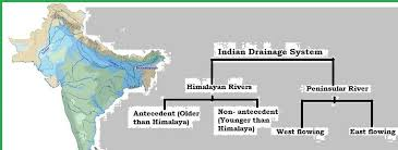 Draw A Flow Chart On The River System Of India Explain It Also