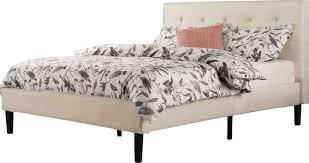 bed. Leonard Upholstered Platform Bed M