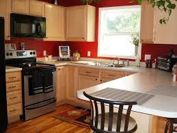 Simple Painting Cherry Kitchen Cabinets White Gallery Of Red To Inspiration Decorating