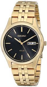 seiko men s sne044 gold tone stainless steel solar watch amazon seiko men s sne044 gold tone stainless steel solar watch amazon co uk watches