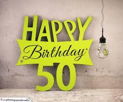 Holzausschnitt Happy Birthday 50 Geburtstag Spruch