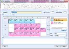 Shift Plan Employee Scheduling Example 5 Day Shifts 7 Night Shifts