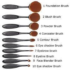genkent 10 pcs oval makeup brush fashionable super soft brushes contour powder blush brush cosmetic tool set makeup brushes