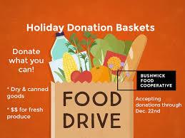 Food Drive Posters Holiday Food Drive Bushwick Food Co Op