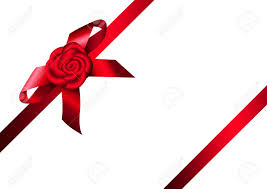 Red Ribbon Design Red Ribbon Rose And Bow Design For Gift Invitation Card Or
