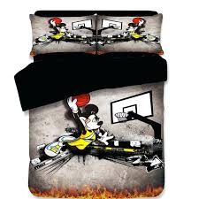 mickey mouse king size bedding sports basketball mickey mouse bedding set cartoon bedspread single king mickey