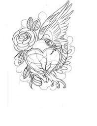 Small Picture Hearts and Roses Coloring Pages Pink Roses Diamond Hearts