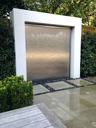 make glass wall water fountain stone wall indoor outdoor water