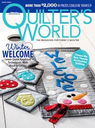 Quilting Magazines - Quilter's World Winter 2017 & Quilter's World Winter 2017 Adamdwight.com