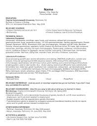 Forensic Science Graduate Resume Lawn Technician Forensic