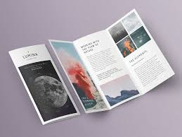 Trifold Template Lumina Trifold Brochure By Templates On Dribbble