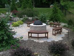 luxury backyard landscaping ideas with fire pit