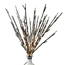 Babali Lighted Twig Branches 20 Inches 100 Led Battery and Electric /  Corded Dual Power Brown