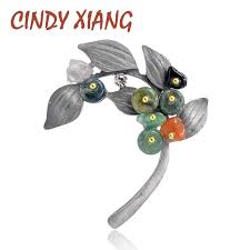<b>CINDY XIANG Vintage</b> Pearl Leaf Brooches for Women Large ...