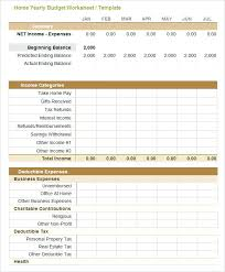 Monthly Business Expenses Free Monthly Expenses Template Business Budget Updrill Co