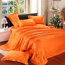 orange solid luxury comforter bedding set king size queen duvet cover bed sheet bedspread bedsheet bedclothes
