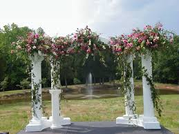 Wedding Arch Decorations How To Decorate For An Elegant English Garden Wedding Reception