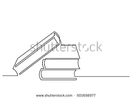 continuous line drawing books stock vector royalty free 501656977 shutterstock