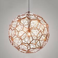 etched pendant light copper 157 inch copper chandelier lighting t65