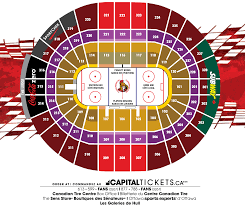 Canadian Tire Centre Seating Map Canadian Tire Centre