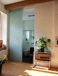 frosted bathroom sliding glass door