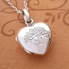 sterling silver tree of life heart locket necklace swj23