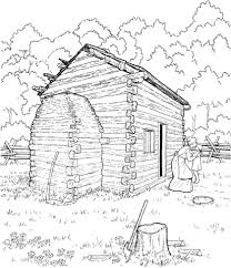 logging coloring pages abraham lincoln log cabin coloring page free printable coloring pages