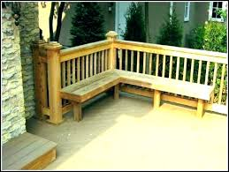 deck bench plans deck bench how to build a deck bench with backrest fashionable deck benches