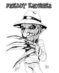 Freddy Krueger Coloring Page