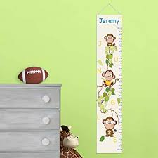 Personalized Monkey Growth Chart Personalized Height Charts For Boys