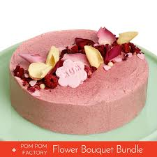 Mothers Day Cake Flower Bouquet Bundle