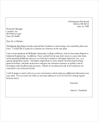 11 Sample College Application Letters Pdf Doc Free Premium