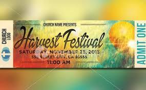 Harvest Festival Ticket Flyer One Logo Harvest Graphic