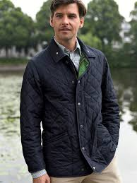 Lodenfrey-Quilted jacket-navy/green & Quilted jacket Adamdwight.com