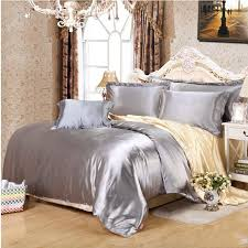 gray and gold bedding. Simple Gray Aliexpresscom  Buy White Black Gold Gray Satin Duvet Cover  TwinQueenKing 4pcs Solid Imitate Silk Bedding Set Bedclothes Bed Linen Pillowcases From  In Gray And Gold Bedding N