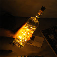 Decorative Bottle Lights Us 0 82 42 Off 1m1 5m2m Leds Wine Bottle Lamp With Cork Embedded Battery Desktop Decorative Light Led Cork Copper Wire String In Table Lamps From