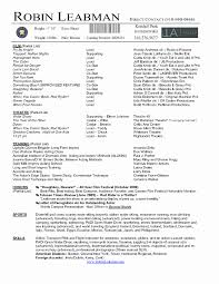 Resume Templates Download Awesome Theatre Resume Template Word