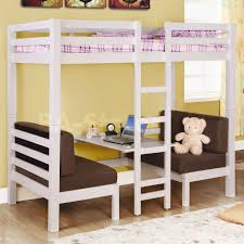 Kids Bedroom Furniture Nj Twin Over Twin Convertible Loft Bed In White Coaster Co